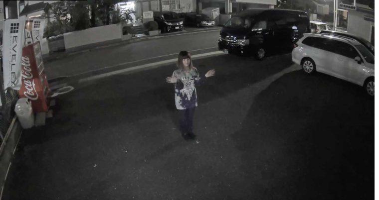 防犯カメラ 夜間映像