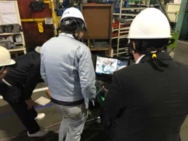 某工場様、ネットワークカメラデモンストレーション