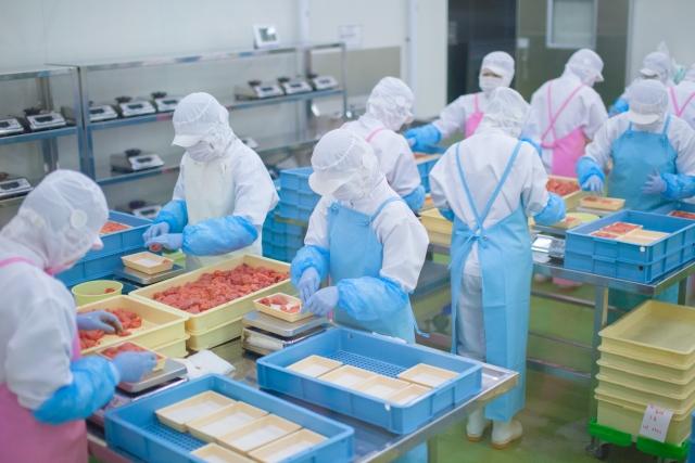 食品工場内部のイメージ写真