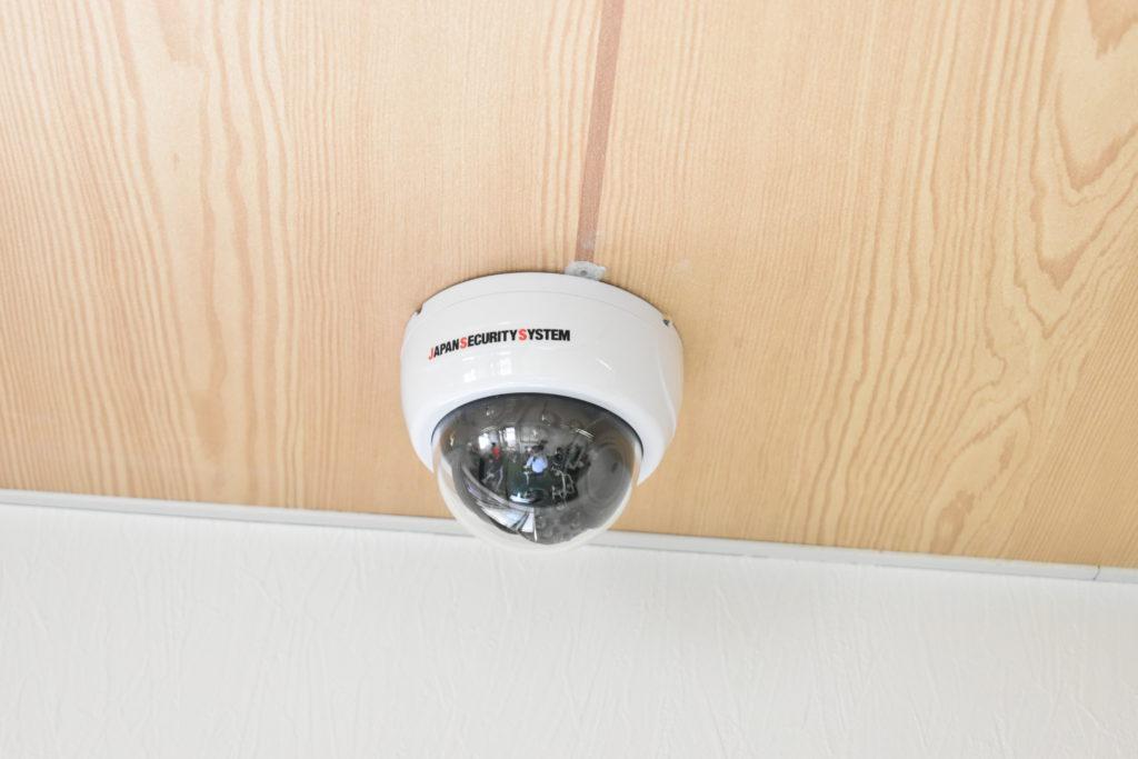 店内に設置した防犯カメラの写真