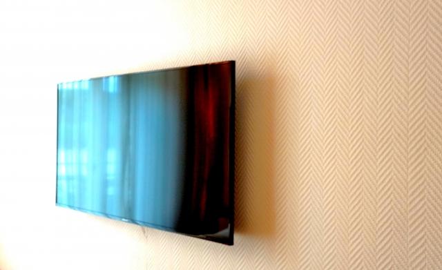 壁掛けモニターの写真