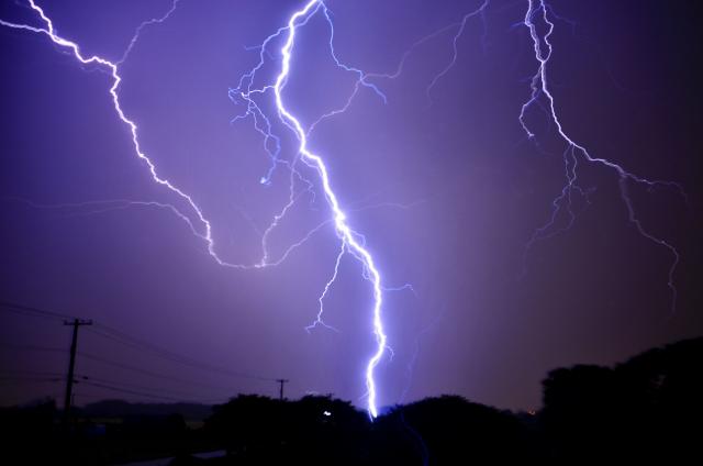 落雷の写真